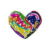 Сердце иллюстрации цвета шестерней бесплатная иллюстрация