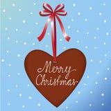сердце имбиря рождества Стоковые Изображения