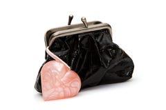 Сердце и портмоне Стоковое Изображение RF