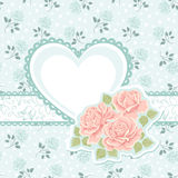 Сердце и розы Стоковая Фотография