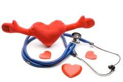 Сердце и стетоскоп Стоковое Изображение