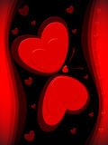 сердце карточки бабочки иллюстрация вектора