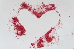 Сердце Карточки дня ` s валентинки форма сердца цвета песка стоковые фото