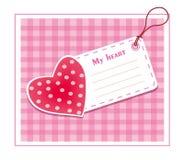 сердце карточки Стоковое Изображение RF