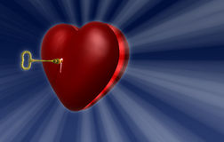 Сердце ключевое A1 Стоковое Изображение