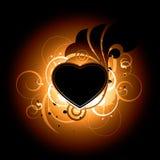 сердце конструкции предпосылки Иллюстрация штока