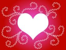 сердце конструкции флористическое Стоковые Фотографии RF