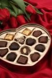 сердце конфеты коробки сформировало Стоковая Фотография