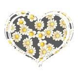 Сердце, который избежали стоцветов Стоковая Фотография