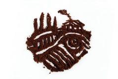 Сердце кофе в стиле итальянки тосканском Стоковое Изображение RF