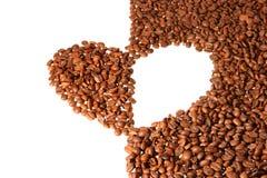сердце кофе фасолей Стоковые Изображения