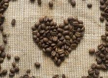 сердце кофе фасолей Стоковые Изображения RF