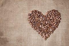 сердце кофе фасолей Стоковое Фото