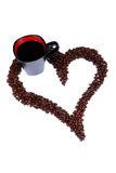 сердце кофе фасоли Стоковые Фото