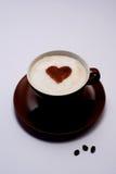 сердце кофе Стоковая Фотография RF