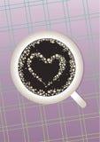 сердце кофе иллюстрация штока