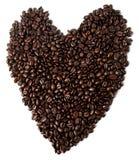 сердце кофе Стоковая Фотография