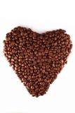 сердце кофе стоковые изображения rf