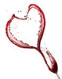 Сердце красного вина Стоковое Фото