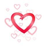 Сердце красного цвета вектора цифров иллюстрация штока