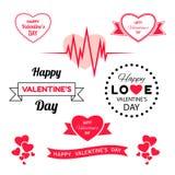 Сердце красного цвета вектора цифров бесплатная иллюстрация