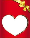 Сердце, красный цвет, вектор Стоковая Фотография RF