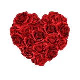 Сердце красных роз дня Святого Валентина заполнило изолированную предпосылку бесплатная иллюстрация