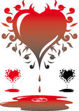 сердце кровотечения Стоковая Фотография