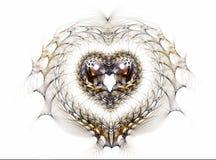сердце кружевное Стоковое Фото