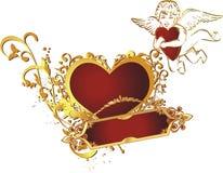 сердце купидона Стоковые Изображения