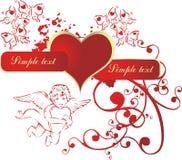 сердце купидона Стоковые Фото