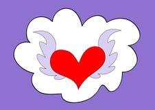 сердце летания облака иллюстрация штока