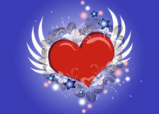 сердце летания симпатичное Стоковое Фото