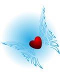 сердце летания Стоковое фото RF