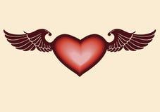 сердце летания Стоковые Фотографии RF