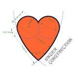 Сердце любит технический чертеж Стоковое фото RF