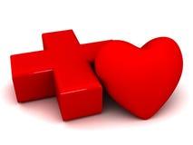сердце медицинского соревнования Иллюстрация вектора