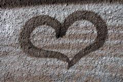 сердце надписи на стенах Стоковые Изображения