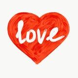 Сердце нарисованное вручную с написанным текстом любов имеющийся вектор valentines архива дня карточки troll темы квадрата картин стоковая фотография