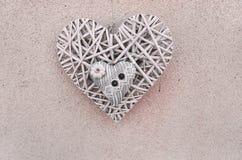 сердце 2 на wall& x28; Valentine& x27; day& x29 s; Стоковое Изображение RF