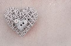 сердце 2 на wall& x28; Valentine& x27; day& x29 s; стоковая фотография rf