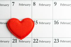 Сердце 14-ого февраля Стоковые Изображения
