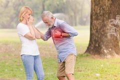 Сердце остановки сердечной деятельности старших людей Стоковая Фотография RF