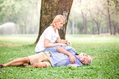 Сердце остановки сердечной деятельности старших людей Стоковое Фото