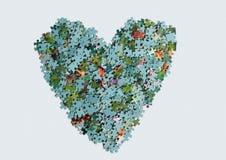 Сердце от головоломки Стоковое фото RF