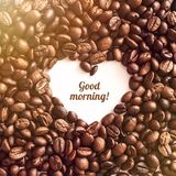 Сердце от кофе стоковые фото