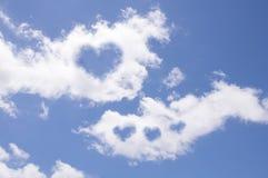 Сердце от облака Стоковые Изображения RF