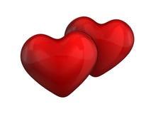 сердце пар цвета вишни лоснистое Стоковые Фотографии RF