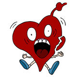 сердце персонажа из мультфильма нападения иллюстрация штока