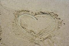 сердце песочное Стоковое Изображение